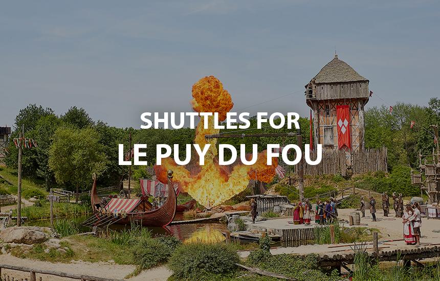 Shuttles access Puy du Fou