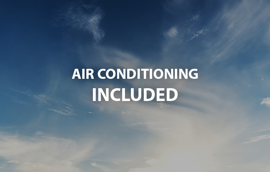 air conditioning included
