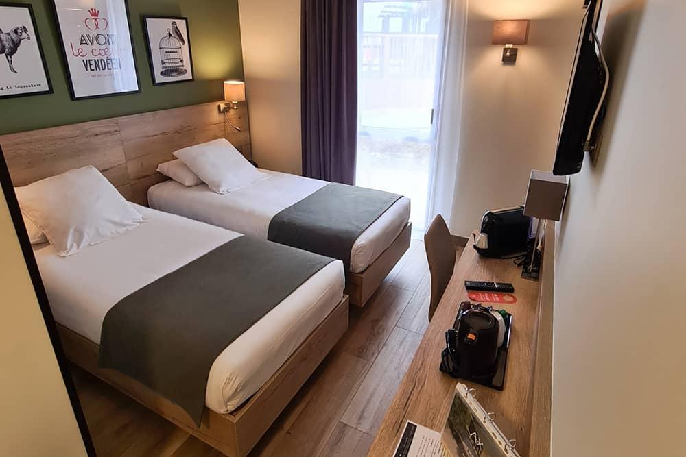 chambre double lits jumeaux ax hotel vendée